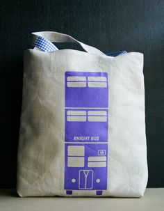 WANT ONE!!! Stuff Tote - Knight Bus. $25.00, via Etsy.