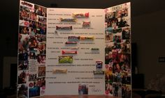 Candy bar poster for my dear friends 50th