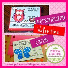 Personalized Valentine Cards  #valentinesday #valentinecards #kids