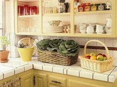 Love this idea to spruce up old cabinet in your kitchen