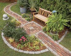 garden pathways, side yard, brick, garden paths, front yards
