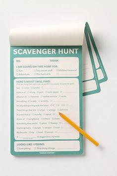 Scavenger Hunt Notepad #anthropologie