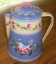 Bluebird  Roses Coffeepot