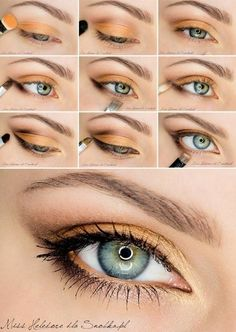 Gorgeous Eye - Makeup Tutorials - #eyemakeup #eyeshadow #makeup #tutorial #eyetuturoial #peachshadow - bellashoot.com