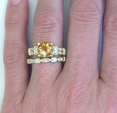 citrine engagement rings - Google Search