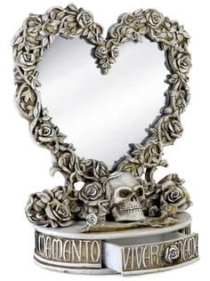 Oracle of Narcissus Mirror Box by Alchemy of England #InkedShop #mirrorbox #mirror #box #oddsandends #heart #skull #floral #decor