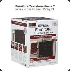 Rust-Oleum Furniture Transfomations...great product for re-painting furniture (even laminate) without sanding!