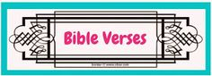 Bible Fun For Kids: Bible Verse Printables