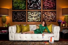 Love the idea of using snake photos framed as artwork... perhaps in the reptile room