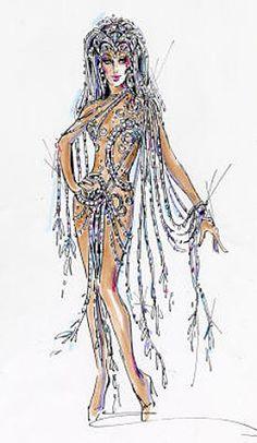 Bob Mackie's Cher sketch