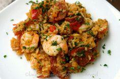 Chorizo shrimp rice