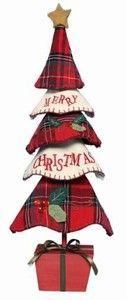 Traditions Fabric Christmas Tree Beautiful Standing Christmas Decoration -    eBay £12.99