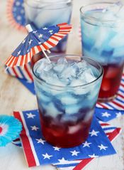 Patriotic Punch intro blue food, red, ice cubes, fourth of july, punch recipes, backyard parties, 4th of july, patriot punch, drink mixes