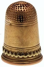 Antique & Rare French 18K Gold Thimble - late 1800's