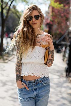 boyfriend jeans, 9th st, east 9th, street styles, on the street, sweet tattoos, beauti, the sartorialist, tattoo ink