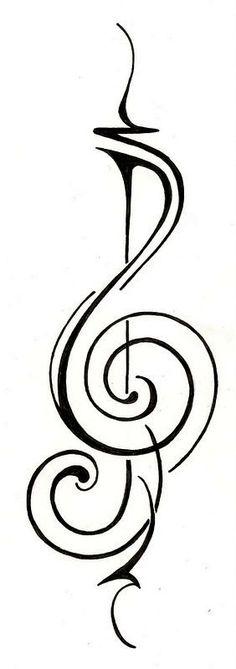 treble clef tattoo, music tattoos, tattoo design, tattoos design, tattoo treble clef