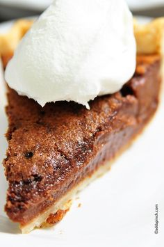 Chocolate Chess Pie Recipe from addapinch.com