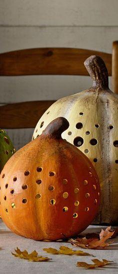 Faux Pumpkin Luminaires   Buyer Select ♥✤