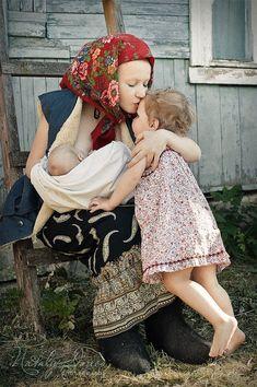 Mama kisses are the same around the world.