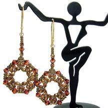Octagonal Earrings Pattern by Deborah Roberti at Bead-Patterns.com