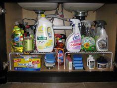 Under the kitchen sink organization