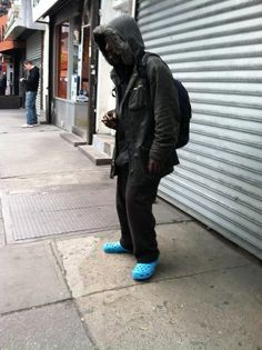 Homeless in Crocs