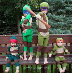 TMNT Teenage Mutant Ninja Turtles Costume | sew a straight line