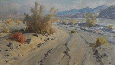 Early California Impressionism - Desert Springtime by William Darling (1882-1963) c.1960