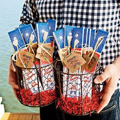 party favors, pool parties, fourth of july, tag, birthday favors for adults, 4th of july, box, parti favor, sparklers