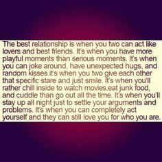 Perfect relationship!