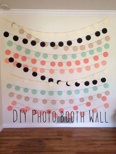 Diy photo booth wall by MINT DESIGN