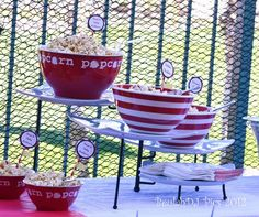 "Photo 5 of 14: Popcorn, red, yellow / Baby Shower/Sip & See ""Darlene's Ready-To-Pop Shower"" 