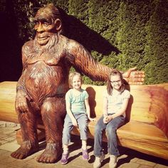 Many thanks to Renee Allard for sharing this adorable photo of her daughters posing with our Sasquatch in Harrison Hot Springs, British Columbia.
