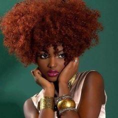 women Cinnamon hair color for black
