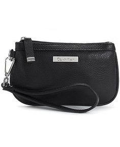 Calvin Klein Handbag, Solid Wristlet - Wallets & Wristlets - Handbags & Accessories - Macy's
