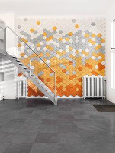 Trӓullit Dekor - #acoustic wall tiles #design FUWL #colour #staircase #interiors