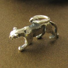 1 Prowling Panther Charm in Sterling Silver by OakhillSilverSupply, $12.26