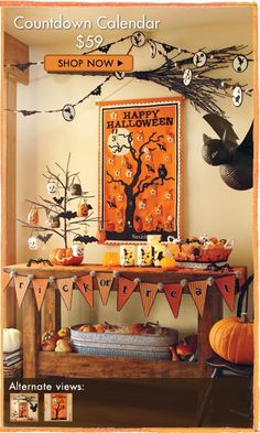 halloween garland for sofa table
