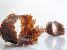 chocolate caramel tuile