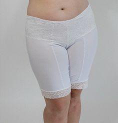 Undersummers Lace Shortlette Slip Short: Rash Guard Panty Shorts ( Plu – Undersummers by CarrieRae