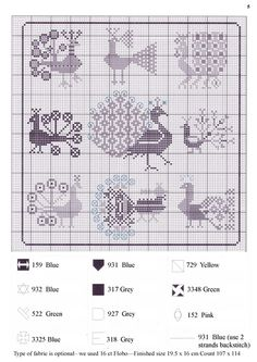 bird, crossstitch, stitch patternssampl, peacock motif, chart
