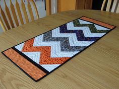 Chevron Quilted Table Runner - love these styles. :)