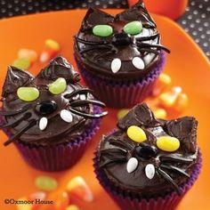 Gooseberry Patch Black Kitty Cat Cupcakes Recipe