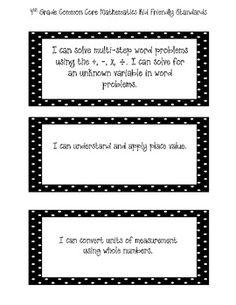 4th Grade Math Common Core