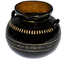 Olla de Barro Ceramic Pot - Traditional way to serve Mexican hot chocolate.