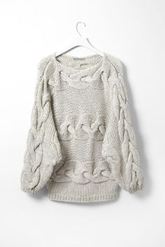 chunky knit sweater.