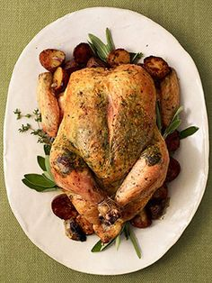Herb-Roasted Chicken from familycircle.com #myplate #chicken #protein