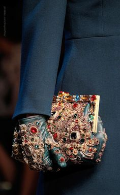 gem encrusted accessories, dolce & gabbana