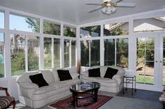 Sun room to enjoy all year, I want one that the walls open up for summer!