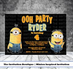 Minion Birthday Invitation